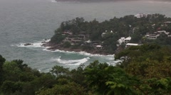 Stormy Phuket Coastline with Waves Stock Footage