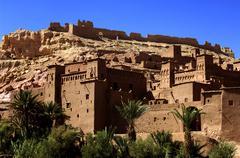 Morocco, Ait Ben Addou, a ksar in the desert Stock Photos