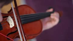Little violin player right Stock Footage