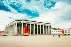 Building Of The Palace Of Republic - Famous Place In Minsk, Bela - stock photo