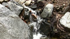 Placerita waterfalls ease-in small fall Stock Footage