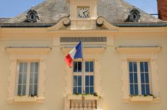France, the city hall the small village of Mereville Stock Photos