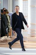 NEW YORK, NY - FEBRUARY 18: Designer Jason Wu walks the runway at the Boss Wo - stock photo
