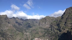 4k Mountain region Curral das Freiras valley in Madeira Stock Footage