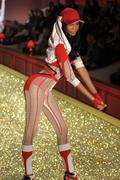 Stock Photo of NEW YORK - NOVEMBER 10: Victoria's Secret Fashion Show model walks the runway
