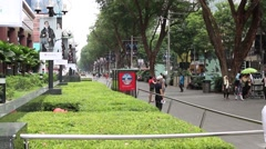 Singapore Street with people Stock Footage