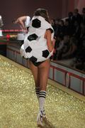 Stock Photo of NEW YORK - NOVEMBER 10: Victoria's Secret Fashion Show model walks the runway