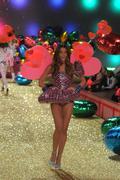 NEW YORK - NOVEMBER 10: Victoria's Secret Fashion Show model walks the runway - stock photo
