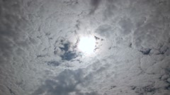 Time lapse of a cloudy sky with hidden sun Stock Footage