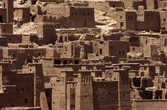 Morocco, Ait Ben Addou, a ksar in the desert - stock photo