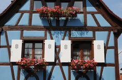 Stock Photo of France, Alsace, picturesque old house in Eguisheim