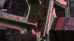 Stock Video Footage of Waterwheel Shaft
