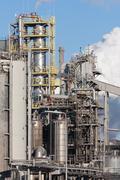Dutch steel factory in IJmuiden - stock photo