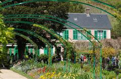 The house of Monet in Giverny Stock Photos