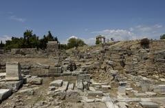Ruins of historical ancient Corinth Stock Photos