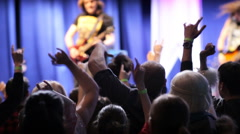 People At Rock Concert - stock footage