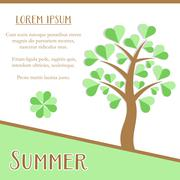 Stock Illustration of Summer season card