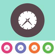 Vector clock icon - stock illustration