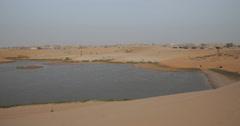 Lake in the Desert near Nouakchott, Mauritania (4K) Stock Footage