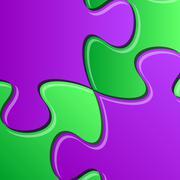 Puzzle pieces detail - stock illustration