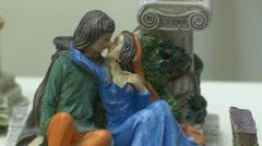 4K FHD Verona Romeo and Juliet figurine Italy Veneto Stock Footage