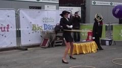 Performer St Patricks Day Dublin Stock Footage