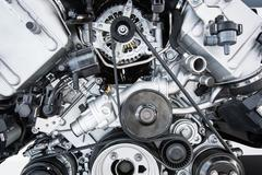 Car Engine - Modern powerful car engine(motor unit - clean and s Stock Photos