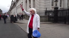 Mad Scentist Dublin streets St Patricks Festival Stock Footage
