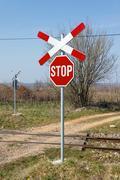 Railway crossing Kuvituskuvat