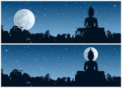 Buddha Night Stock Illustration