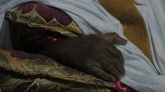 Mauritanian Musician Drinking Tea Stock Footage