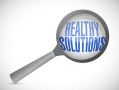 healthy solutions search illustration design - stock illustration