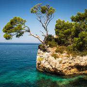 Splendid seacoast of Croatia (Makarska riviera, Brela) - stock photo