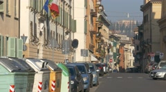 4K FHD Verona old town traffic Italy Veneto - stock footage