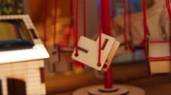 Souvenir merry go round toy Stock Footage