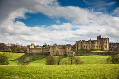 Alnwick Castle, Northumberland - England Stock Photos