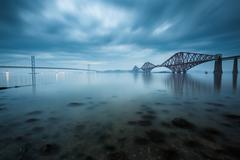 Forth bridges in Edinburgh, Scotland - stock photo