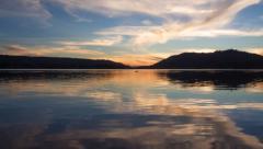 Twilight Clouds over Big Bear Lake (4K) Stock Footage