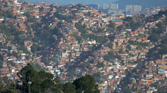Panning HD 1080 view of shanty town (fabelas) in Caracas city Stock Footage