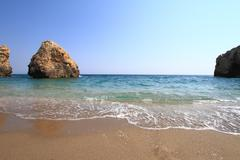 Beautiful beach in Greece at summer Stock Photos