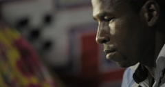 Colse up shot of Mauritanian Man Playing Tidinit (4K) Stock Footage
