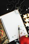 Christmas recipe book - stock photo