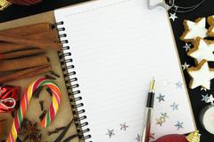 Christmas note book - stock photo