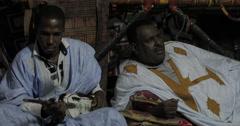 Mauritanian Musicians Jamming (4K) Stock Footage