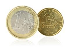 Euro or Drachma Stock Photos