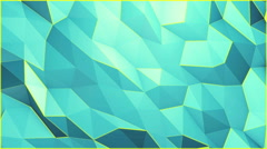 Blue triangles and yellow edges background, seamless looping. Stock Footage