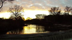 Rivers edge at sunset Stock Footage