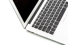 Modern laptop computer on white Stock Photos