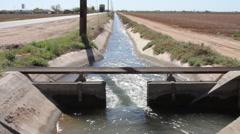 Phoenix Arizona - Water Reservoir 1 - Desert Stock Footage