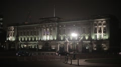 Buckingham Palace at Night | HD 1080 Stock Footage